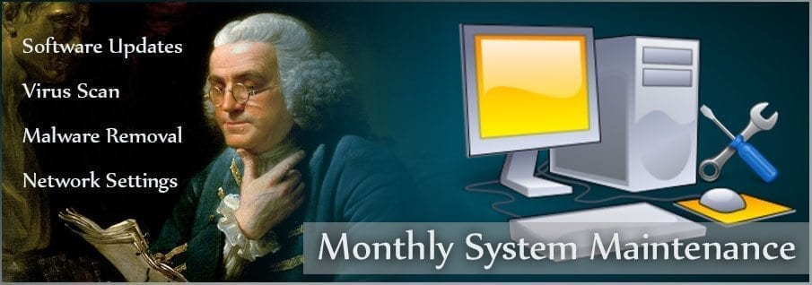 Unifeyed Monthly System Maintenance Image with Ben Franklin